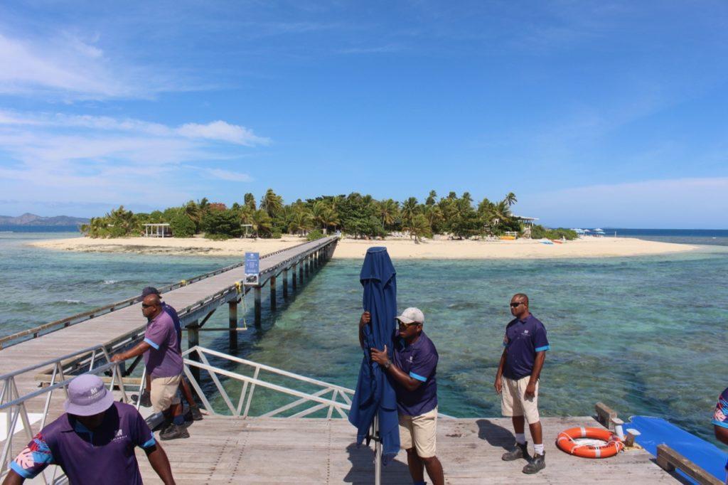 マラマラ島へ渡る桟橋